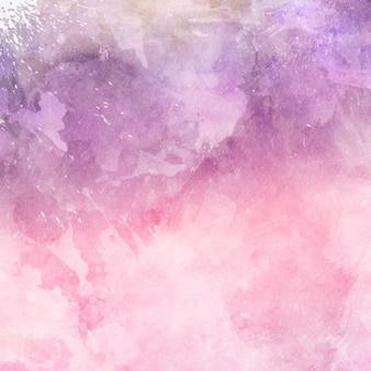 Fundo decorativo da aguarela em tons de rosa e roxo
