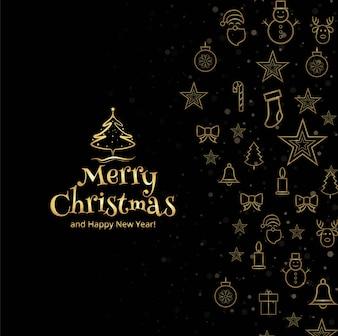 Fundo decorativo de cartão feliz Natal