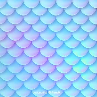 Fundo decorativo de cauda de sereia holográfica