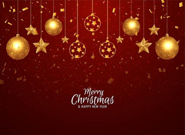 Fundo decorativo de confetes dourados de feliz natal