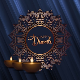 Fundo decorativo de diwali