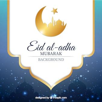 Fundo decorativo de Eid al-Adha