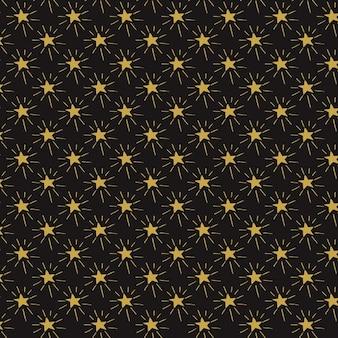 Fundo decorativo de estrelas desenhadas mão
