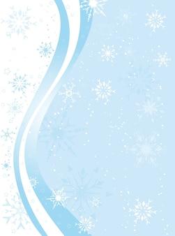 Fundo decorativo de inverno com flocos de neve e estrelas