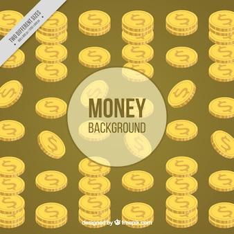 Fundo decorativo de moedas