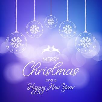 Fundo decorativo de natal e ano novo