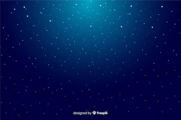 Fundo decorativo de noite estrelada gradiente