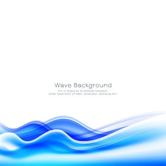 Fundo decorativo de onda azul