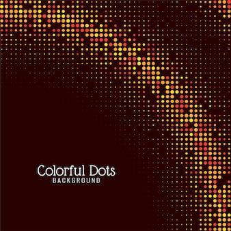 Fundo decorativo de pontos coloridos modernos
