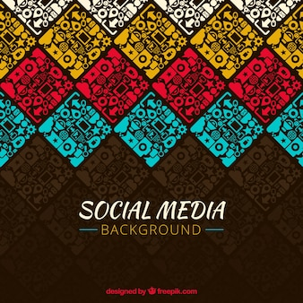 Fundo decorativo de redes sociais coloridos