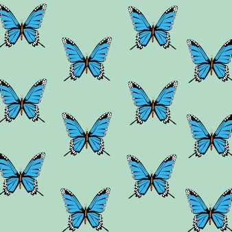 Fundo decorativo do padrão de lindas borboletas.