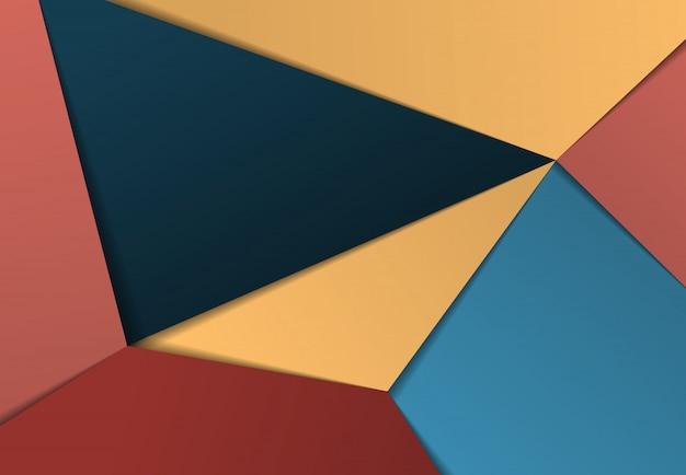 Fundo decorativo do projeto colorido abstrato do corte do papel do inclinação.