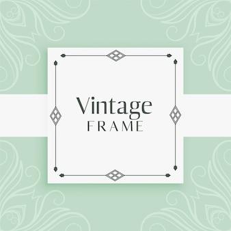 Fundo decorativo do quadro vintage convite