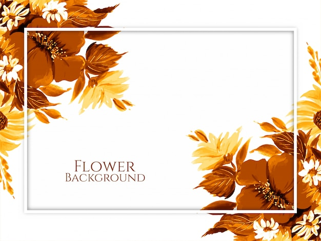 Fundo decorativo flor