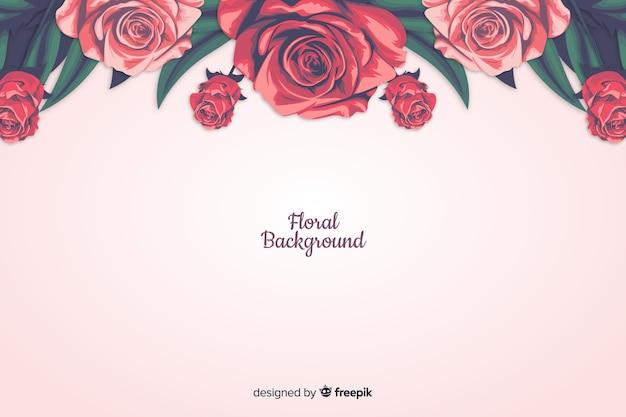 Fundo decorativo floral de estilo realista