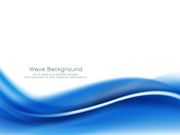 Fundo decorativo moderno de onda azul bonita