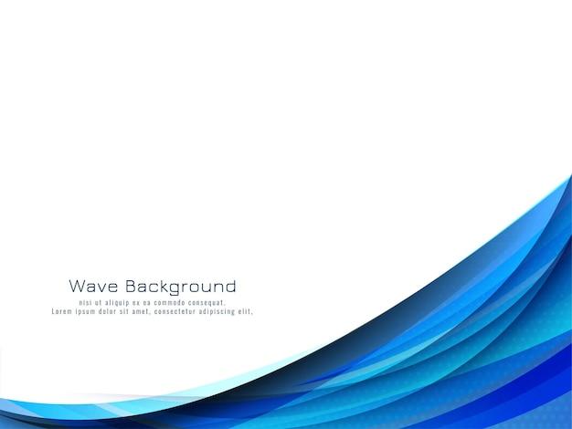 Fundo decorativo moderno de onda azul
