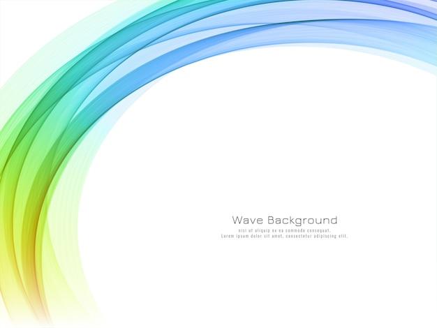 Fundo decorativo moderno de onda colorida