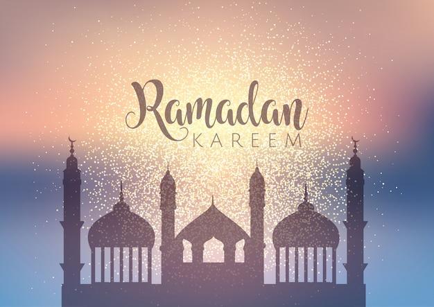 Fundo decorativo para o ramadã com design brilhante