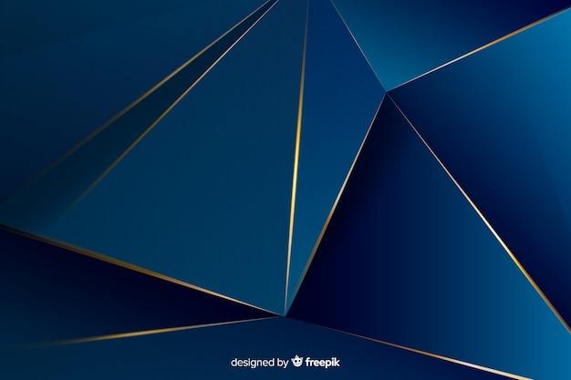 Fundo decorativo poligonal escuro elegante