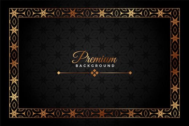 Fundo decorativo preto e dourado premium
