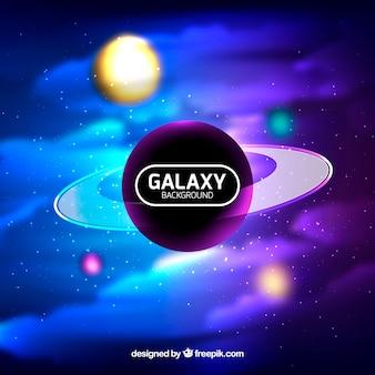 Fundo defocused de galáxias