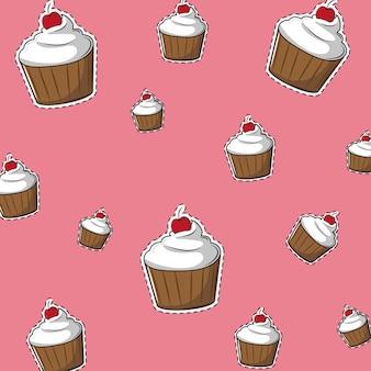 Fundo delicioso cupcake