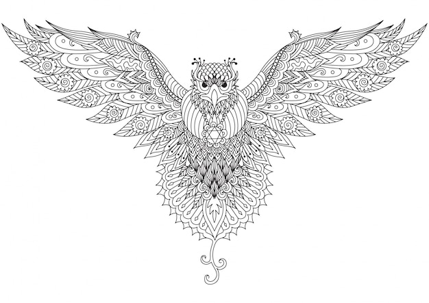 Fundo desenhado à mão do pássaro