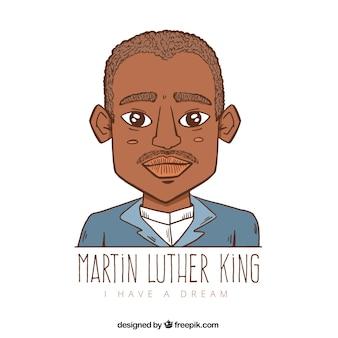 Fundo desenhado mão para o dia de martin luther king