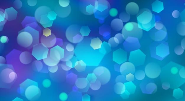 Fundo desfocado abstrato com efeito bokeh em cores azuis claras