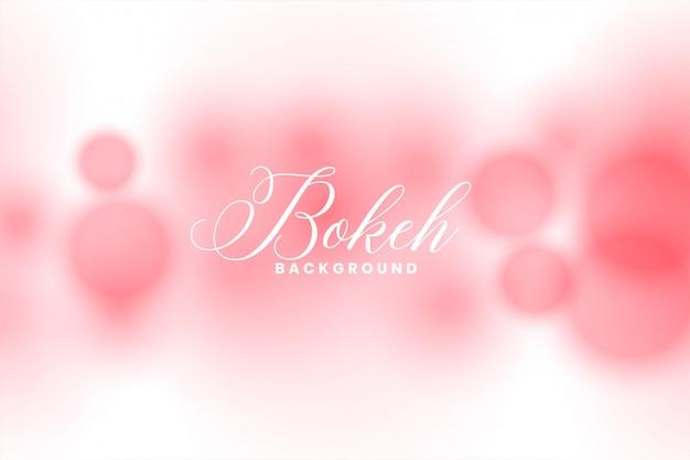 Fundo desfocado abstrato rosa efeito de luz bokeh