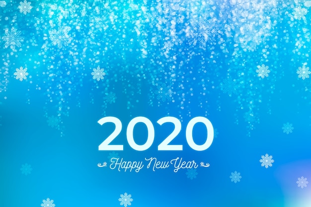Fundo desfocado bonito do ano novo 2020
