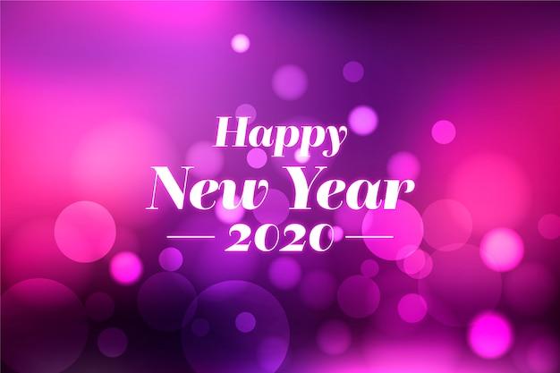 Fundo desfocado colorido do ano novo 2020