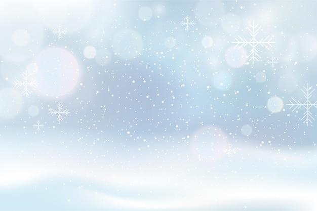 Fundo desfocado de inverno