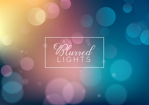 Fundo desfocado de luzes