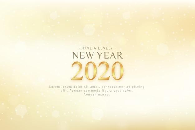 Fundo desfocado do ano novo 2020