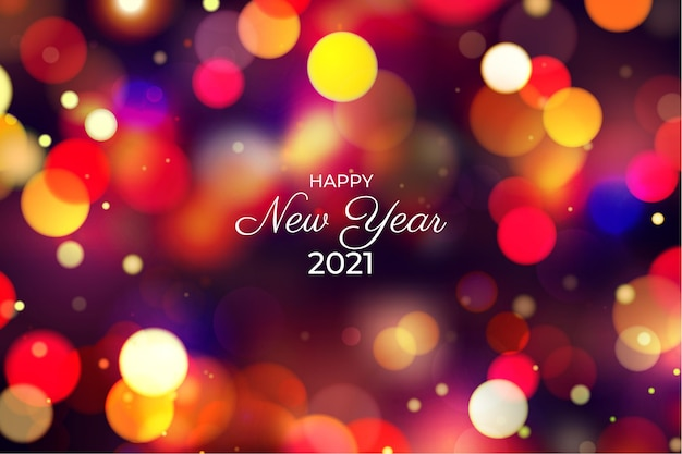 Fundo desfocado do ano novo de 2021