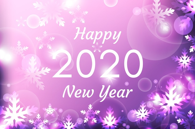 Fundo desfocado do ano novo