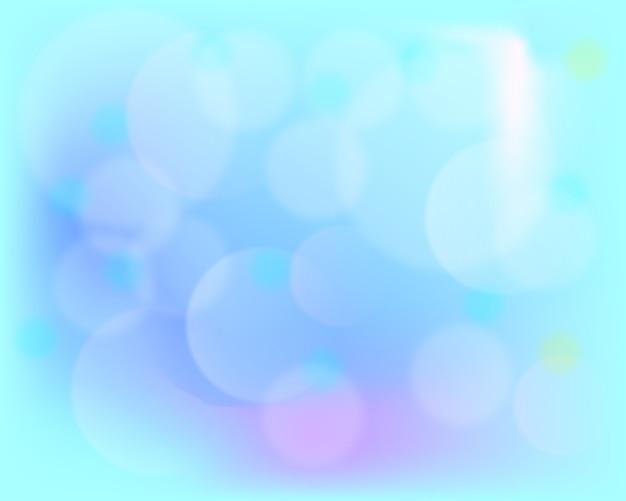 Fundo desfocado em tons de azuis e roxos.