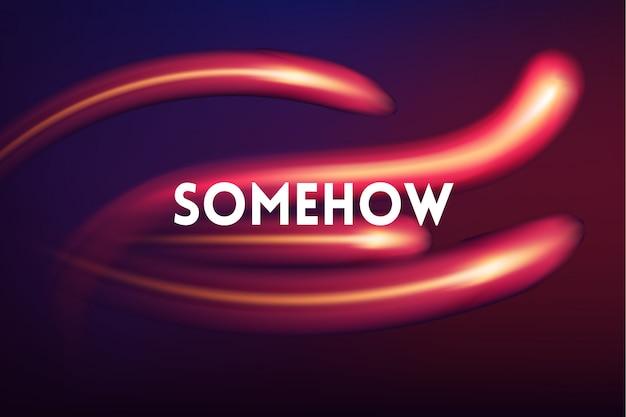 Fundo desfocado multicolorido largo horizontal. imagem abstrata de um cometa espacial em cores neon com citação motivadora, vetor de fundo desfocado