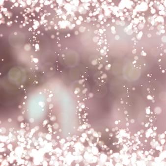 Fundo desfocado rosa com luz cintilante