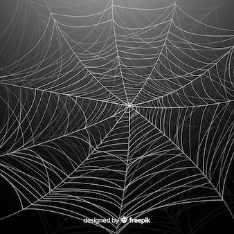 Fundo detalhado de teia de aranha de halloween