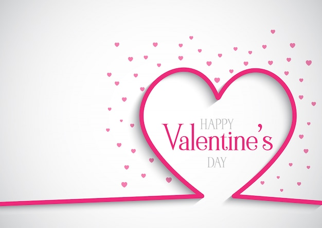 Fundo dia dos namorados com corações