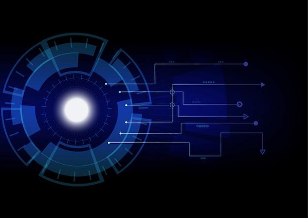 Fundo digital abstrato. transformação do crescimento do negócio