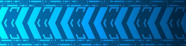 Fundo digital de padrão de velocidade azul abstrato, design de movimento de seta de tecnologia