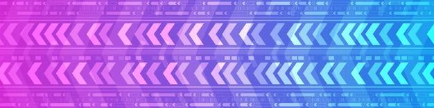 Fundo digital de padrão de velocidade de gradiente abstrato azul e roxo, design de movimento de seta de tecnologia