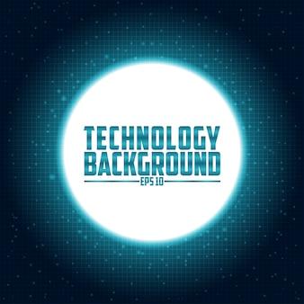 Fundo digital de tecnologia circuito futurista