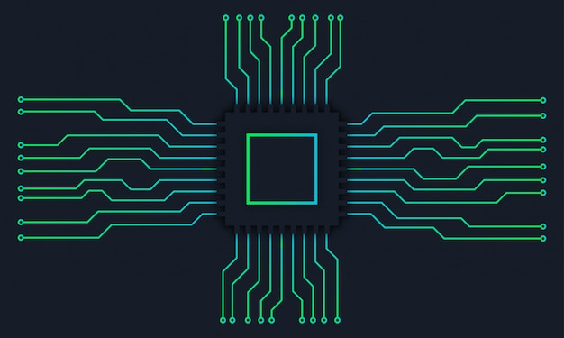 Fundo digital de tecnologia de placa-mãe de circuito