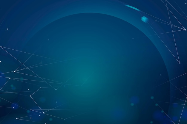 Fundo digital futurista do vetor gradiente azul escuro
