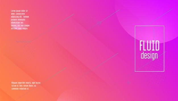 Fundo digital. página inicial plana. página brilhante. forma líquida. ilustração horizontal. cartaz mínimo ondulado. site da fluid. banner de plástico rosa. fundo digital violeta